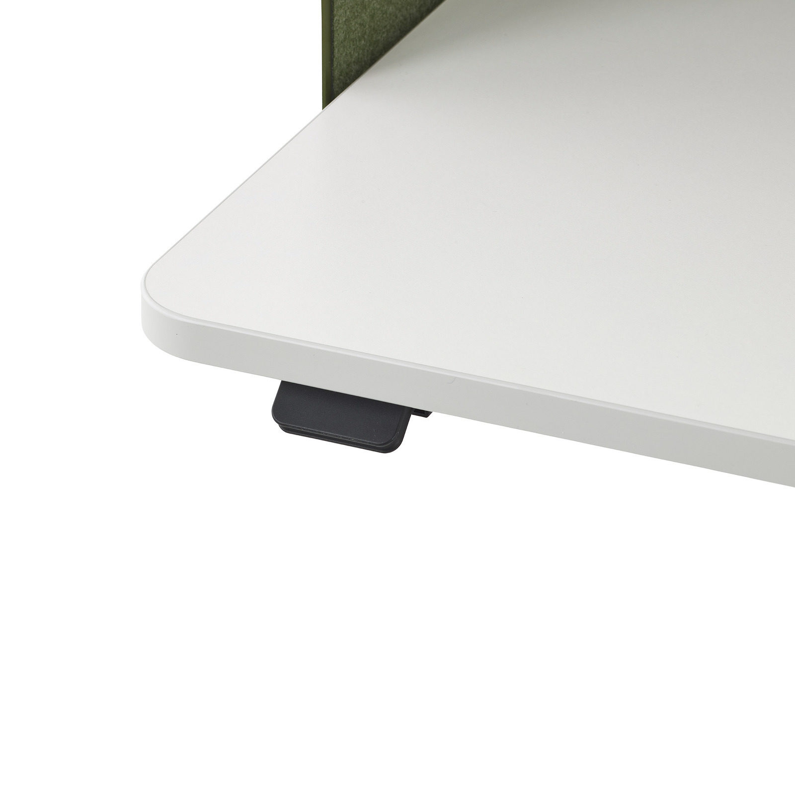 A close up image of the switch on an OE1 Micro Pack that can be used to raise and lower the work surface.