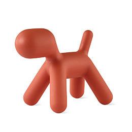 An orange Magis Puppy on a white background.
