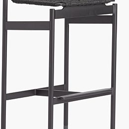 A black Design Within Reach Sommer Barstool on a white background.