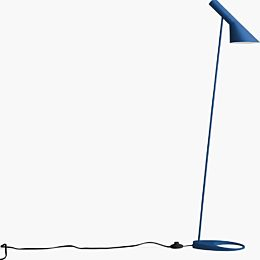 A tall blue AJ Floor Lamp on a white background.